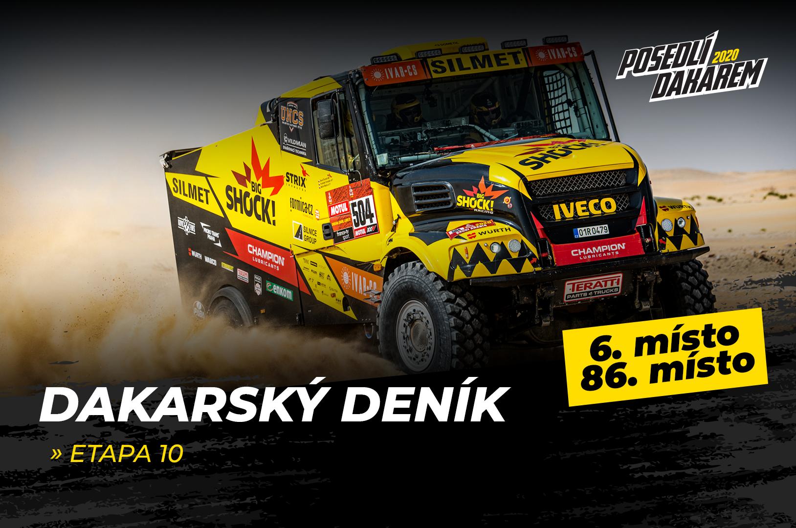 Dakarský deník – 10. etapa – Brabčák si při pádu zlomil řídítka, ale zvládl dojet do bivaku!