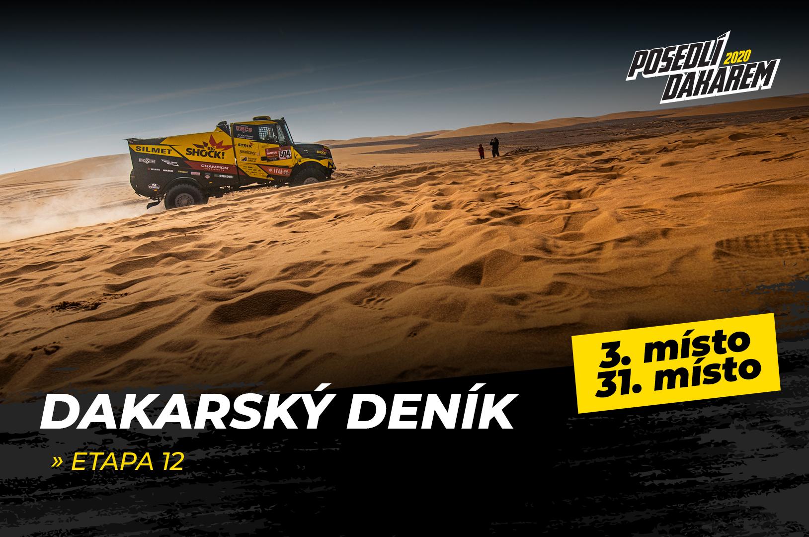 Dakarský deník – 12. etapa – bronz, TOP 5 a nemožný, který se stalo možným!